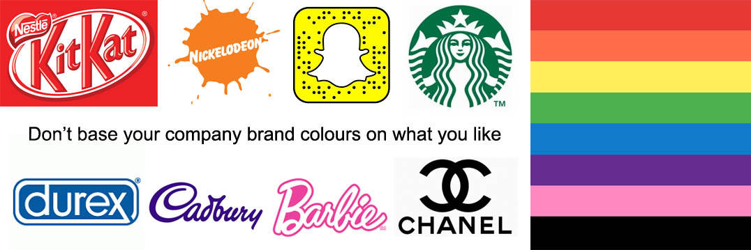 Don't base your company brand colours on what you like